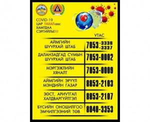 Өмнөговь аймгийн шуурхай штаб 70533336: 70533337